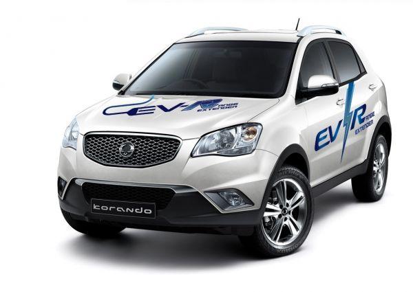 SsangYong a profité du salon ENVEX 2013 pour présenter son nouveau Korando C EV-R