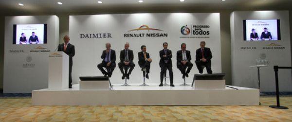 L'Alliance Renault-Nissan et Daimler étendent leur coopération avec une nouvelle usine au Mexiique