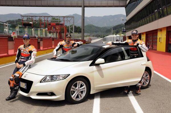 Die Honda MotoGP-Fahrer werben für das Hybrid-Coupe Honda CR-Z