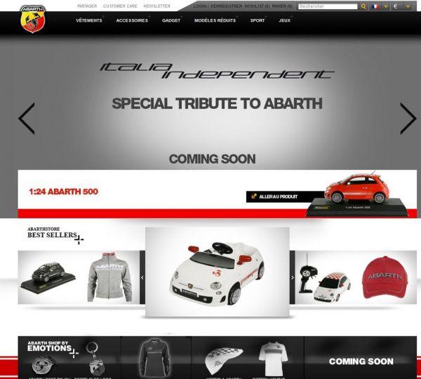 Nouvelle boutique en ligne ABARTH