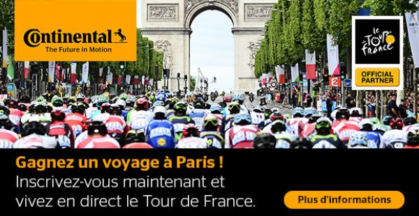 Vivez le Tour de France en direct avec 123pneus.ch et Continental