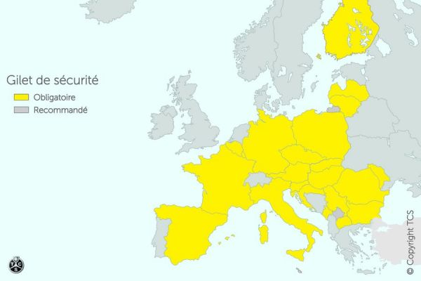 Gilet de sécurité obligatoire en Allemagne à partir du 1er juillet