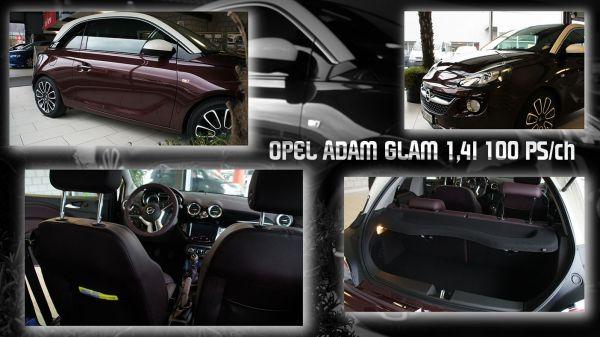 Opel ADAM le nouveau mécano d'Opel, 1,4l GLAM 100 ch